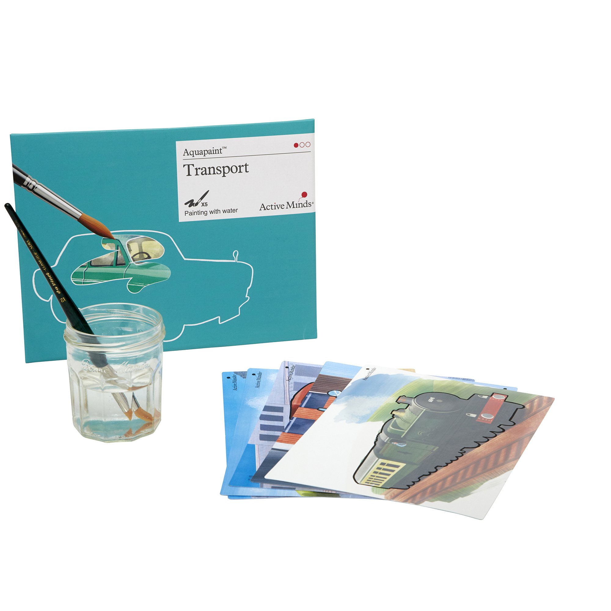 Transport Aquapaint - Reusable Water Painting by Active Minds   Specialist Alzheimer's/Dementia Art Activity w/Five Painting Designs