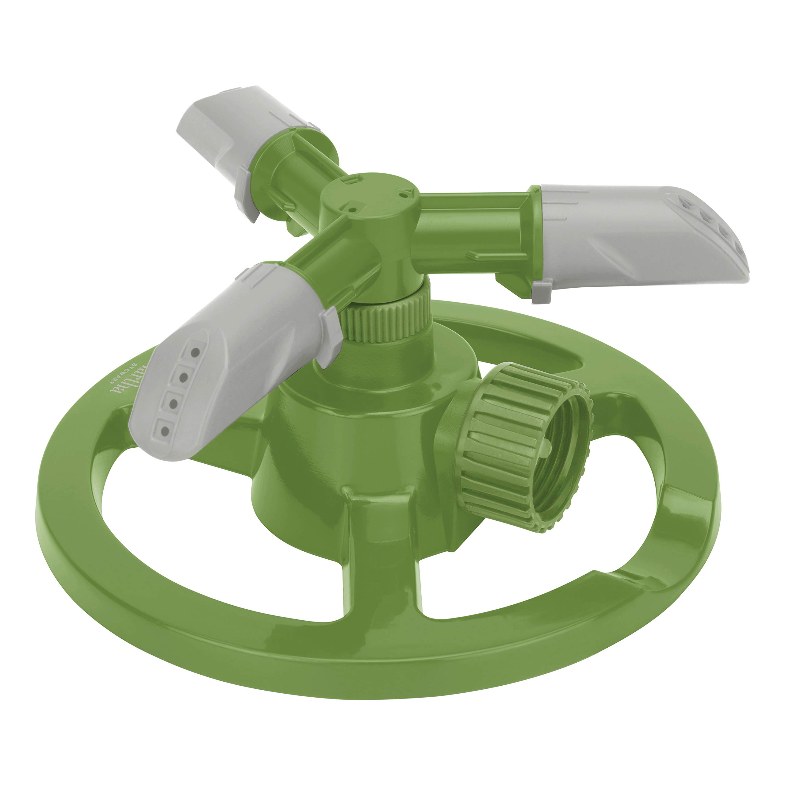 Martha Stewart MTS-CRSPR3 3-Arm Rotating Sprinkler w/High-Impact-Resistant Circle Base, Gardening