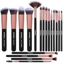 BS-MALL Makeup Brushes 18pcs Premium Synthetic Professional Eye Brushes Kit for Blending Eyeshadow Concealer Eyeliner Eyebrow(Rose Gold)