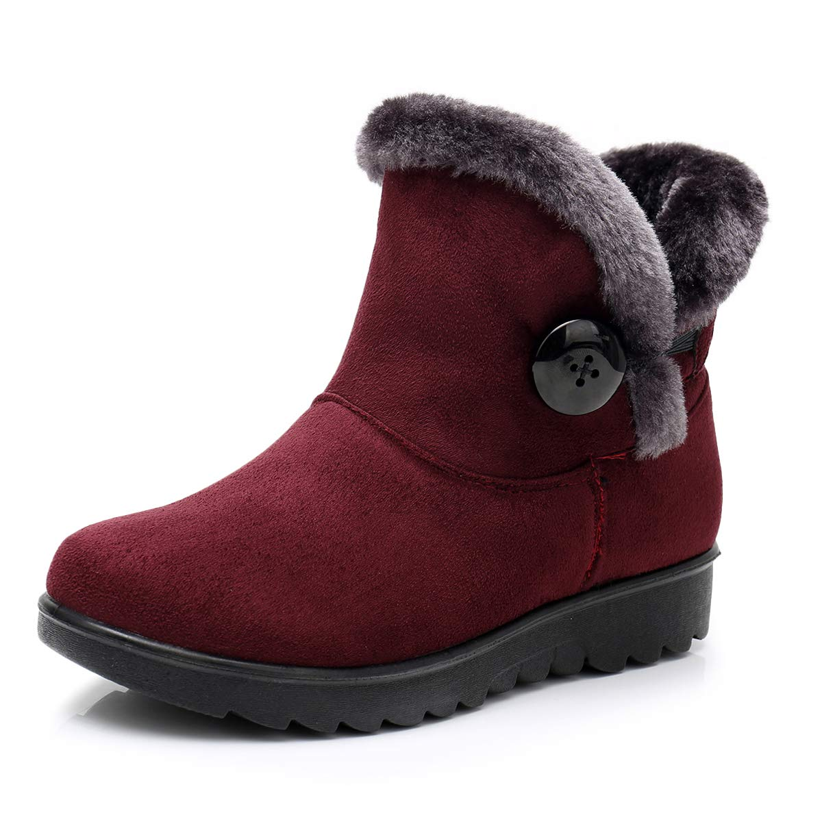 Winter Boots for Women Snow Boots for Women Ankle Boots Fashion Wedge Heel Winter Snow Boots Ankle Boots