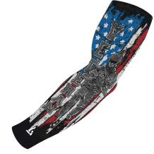 B-Driven Sports Athletic Sport Compression Arm Sleeve USA, Mexico, Puerto Rico & More   1 Sleeve