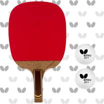 Butterfly Nitchugo Japanese Penhold Table Tennis Racket | Nakama Series | Maximum Control for The Beginning Penhold Player | Recommended for Beginning Level Players (NITI)