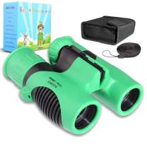 FISHOAKY Binoculars for Kids, Compact 8x21 High Resolution Kids Binocular Toy, Shockproof Explorer Small Telescope for Bird Watching, Hiking, Camping, Outdoor for Boys Girls