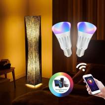 "LVYUAN Floor Lamps Alexa WiFi Smart 61"" Softlighting Home Minimalist Dimmable Multicolored Color Changing LED Light Smartphone Control Compatible with Alexa Lamps"