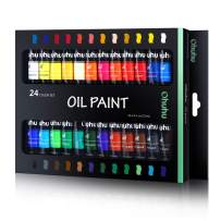 Ohuhu Oil Paint Set, 24 Oil-Based Colors, Artists Paints Oil Painting Set, 12ml x 24 Tubes Great Mother's Day Back to School Gifts Ideal