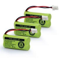 QBLPOWER BT183342/BT283342 2.4V 400mAh Ni-mh BT-166342 BT-266342 BT-162342 BT-262342 Battery Compatible with VTech CS6114 CS6419 CS6719 AT&T EL52300 CL80111 Cordless Phone(Pack of 3)