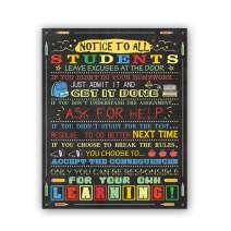"HPNIUB Classroom Art Prints, Chalk Board Canvas Poster,Set of 1(16""X20""), Inspirational Quotes Wall Art,Educational Supplies for Teachers School Classroom, No Frame"