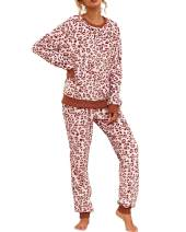 ECHOINE Womens Casual 2 Pieces Outfits Pullover Lounge Pajama PJ Jogger Set with Pockets