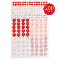 Baker Ross AT408 Heart Self Adhesive Pearls Valetines Crafts for Kids (Pack of 200)