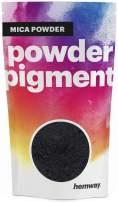 Hemway Mica Pigment Colour Powder Cosmetic Soap Bath Bomb Eyeshadow Nail Art Sparkle Eye Shadow Bath Bombs Pearlescent Foundation Iron Oxide (3.6oz / 100g, Metallic Charcoal Black)