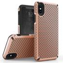 Zizo Echo Series Compatible with iPhone X Case Dual Layered TPU and PC with Anti Slip Grip iPhone Xs case Rose Gold Black