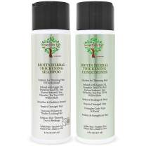 MOUNTAIN TOP Biotin Herbal Thickening Shampoo & Conditioner Set (2 x 8oz) with Argan Oil, Pumpkin Seed Oil, Red Korean Seaweed, Saw Palmetto, Tea Tree Oil & Willow Bark, Sulfate Free, All Hair Types