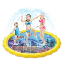 """Toyvian Splash Sprinkler Pad for Kids,Kiddie Baby Pool,67"""" Outdoor Party Water Mat Toys, Inflatable Water Toys Swimming Pool for 2-12 Years Old Toddlers Baby Kids Children"""