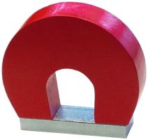 "Eclipse Magnetics M19623SKM Alnico Horseshoe Magnet, 2-1/2"" Length x 3"" Width x 3/4"" Thickness"