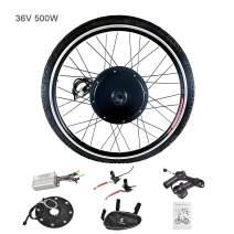 Murtisol Electric E-Bike Motor Kit 26'' Front Wheel/Rear Wheel 36V 500W/48V 1000W Bicycle Motor Conversion Kit