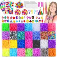 11900+ Rainbow Loom Rubber Bands for Bracelets Kit: 11000+ Premium Quality Loom Bands in 28 Unique Colors + 600 S-Clips + 200 Beads + 30 Charms + 6 Crochet Hooks + 2 Y Loom + Loom Board, by Aocome