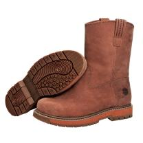 Muck Boots Wellie Classic Soft Toe Men's Leather Work Boot, Medium Width