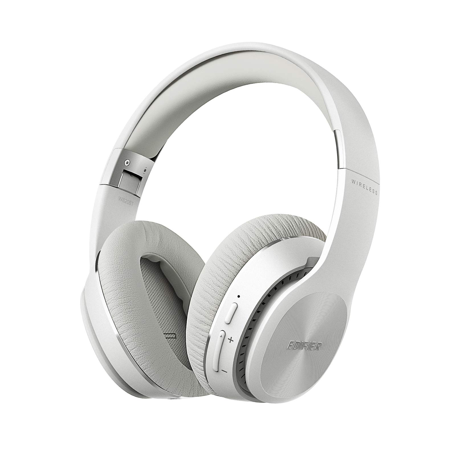 Edifier W820BT Bluetooth Headphones - Foldable Wireless Headphone with 80-Hour Long Battery Life - White