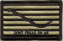 Shoulder Patch - Navy Jack Don't Tread On Me - Desert Tan