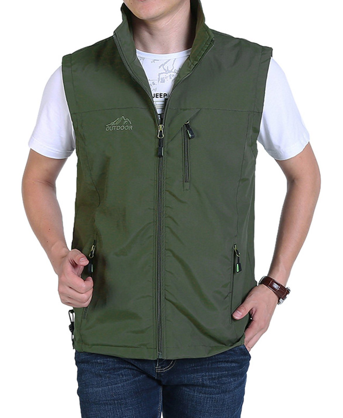Yimoon Men's Safari Travel Vest Outdoor Lightweight Fishing Photo Vest