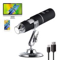 TOWODE Wireless Digital Microscope, 50x to 1000x Magnification WiFi USB Endoscope 1080P HD, Mini Pocket Handheld Microscope Camera with 8 Led Light Compatible for iPhone Android Mac Windows Computer