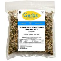 Gerbs Unsalted Pumpkin & Sunflower Seed Mix, 4 LBS - Top 14 Food Allergy Free & NON GMO - Vegan, Keto Safe & Kosher - Premium Dry Roasted Seeds Produced in Rhode Island