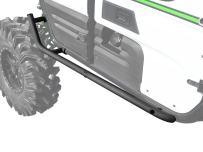 SuperATV Heavy Duty Nerf Bars/Tree Kickers/Rock Sliders for Kawasaki Teryx 4 (2012+) - Bolt-on Mounting & Easy to Install!