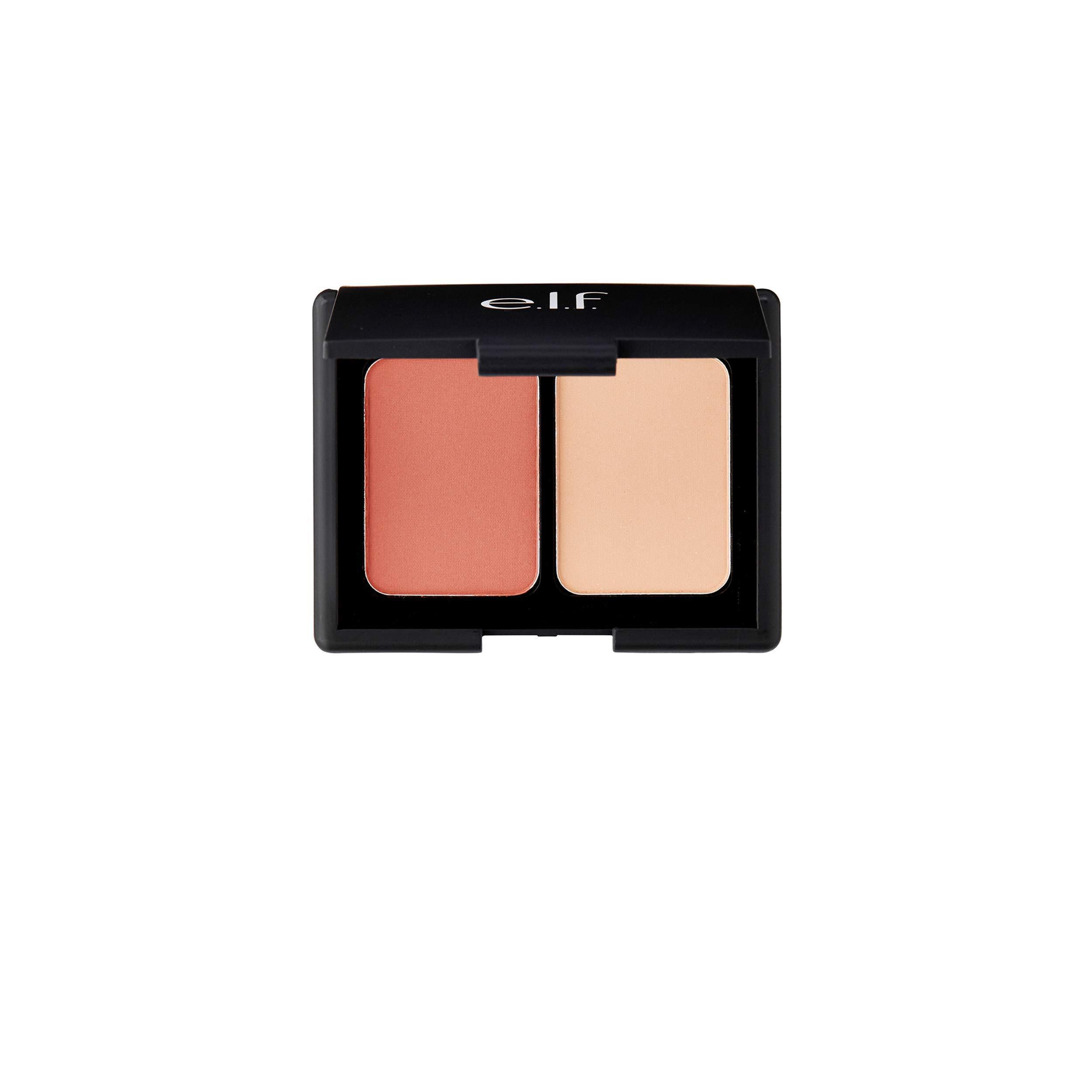 e.l.f. Matte Blush Duo Blendable Color Powder, Rosy Flush, 0.30 Ounce