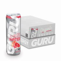 GURU Organic Energy Sparkling Water, Green Tea & Stevia, Grapefruit, 12 Ounce (Pack of 24), Sugar Free