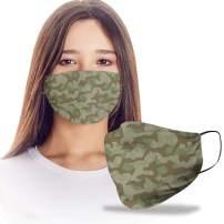 VTH Global Splinter Camouflage Camo Pattern Reusable Washable Face Mask Women Men for Dust Protection