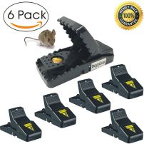 Buyplus Mouse Trap - Rat Traps Snap Humane Power Rodent Killer(6 Pack), Mice Trap,Sensitive Reusable and Durable (6)