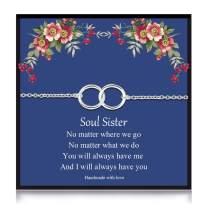 Your Always Charm Soul Sister Bracelet for Best Friend Double Heart Bracelet Friendship Bracelet Birthday Party Gift
