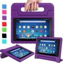 AVAWO Shock Proof Case for Fire HD 8 2017/2018 Tablet - Kids Shockproof Convertible Handle Light Weight Protective Stand Case for Fire HD 8-inch (7th/8th Generation, 2017/2018 Release), Purple