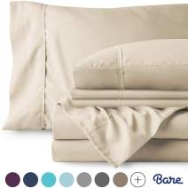 Bare Home 6 Piece 1800 Collection Deep Pocket Bed Sheet Set - Ultra-Soft Hypoallergenic - 2 Extra Pillowcases (Queen, Sand)