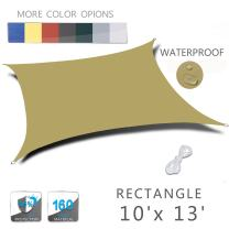 LOVE STORY 10' x 13' Rectangle Sand Waterproof Sun Shade Sail Perfect for Outdoor Patio Garden