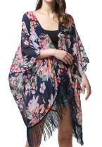 MissShorthair Women's Chiffon Kimono Cardigan Coverup Tops