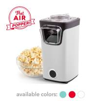 DASH DAPP155GBWH06 Turbo POP Popcorn Maker, 8 Cups, White