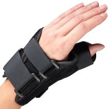 OTC Wrist-Thumb Splint, 6-Inch Petite or Youth Size, Lightweight Breathable, Small (Left Hand)