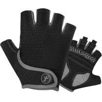 MOREOK Cycling Gloves Bike Gloves,5MM SBR+Gel Padded Shock-Absorbing Bicycle Gloves Anti-Slip Breathable MTB Road Biking Gloves for Men/Women