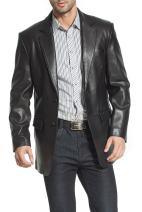BGSD Men's Steven Classic Lambskin Leather Blazer (Regular Big & Tall and Short)