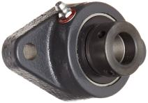 """Browning VF2E-212 Normal-Duty Flange Unit, 2 Bolt, Eccentric Lock, Regreasable, Contact and Flinger Seal, Cast Iron, Inch, 3/4"""" Bore, 3-17/32"""" Bolt Hole Spacing Width, 4-13/32"""" Overall Width"""