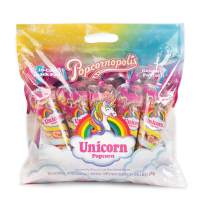 Popcornopolis Popcorn 10 Cone Snack Pack Including Natural Berry and Lemon Fruit Flavored Unicorn Popcorn, Unicorn