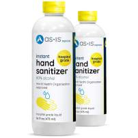80% Ethyl Alcohol Hand Sanitizer, WHO Approved Premium Formula to Reduce Germs on Hands, 16 oz each (2-pack), Made in Canada