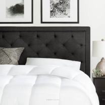 BROOKSIDE Upholstered Headboard with Diamond Tufting - Full/Full XL - Charcoal