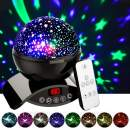 Amouhom Night Light Baby Star Projector, 8 Color Rotation Lamp with Timer Remote and Chargeable, Dimmable Combinations Romantic Starry Sky Best Gift for Kids Festival Bedroom Living Room (Black)