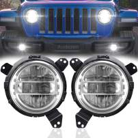 JL Headlights = 7 Inch Headlights with JL Headlight Mounting Bracket Adapters Compatible with Jeep Wrangler JL JLU Sahara Rubicon Sport 2018-2020, DOT Approved, 2PCS, Silver