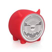 EWA A101 Mini Bluetooth Speaker, Wireless Portable Bluetooth Speaker, Small but Loud, Built in FM Radio, Support TF Card, Mini Cute Speaker for Christmas&New Year, a Gift for Kids of All Ages (Red)