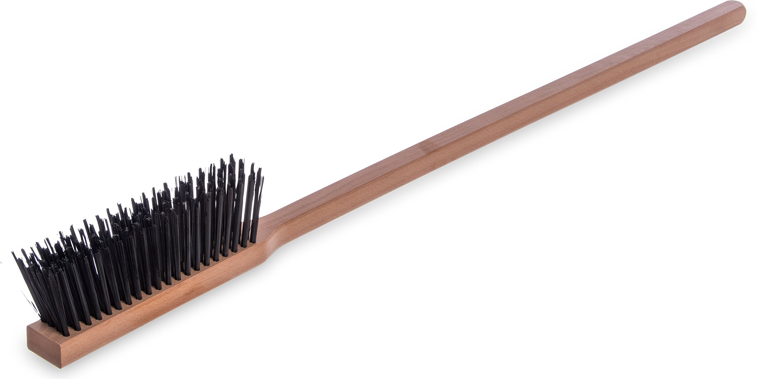 "Carlisle 4577200 Carbon Steel Bristle Pizza/BBQ Oven Brush, 39"" Overall Length"
