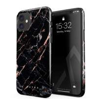 BURGA Phone Case Compatible with iPhone 11 - Black Rose Gold Marble Meteor Shower Cute Case for Girls Thin Design Durable Hard Shell Plastic Protective Case