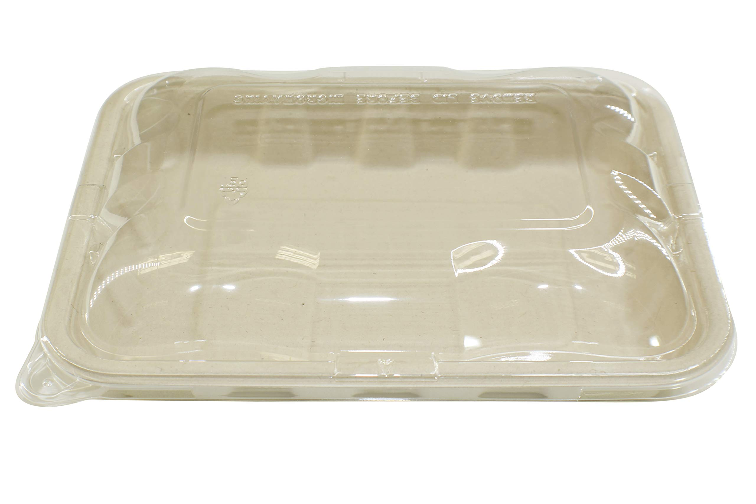 [400 Sets] 22oz Compostable Eco Friendly Container Trays with Lids - Containers Tree-Free Bagasse Fibers Sugarcane Meal Prep Dinnerware Plates Catering Bento Boxes Takeout 100% by Products